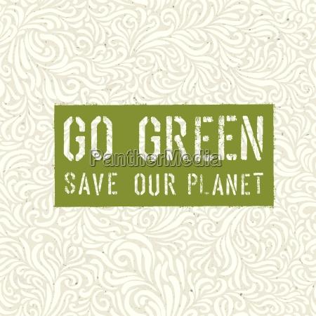 cartel de go green concept