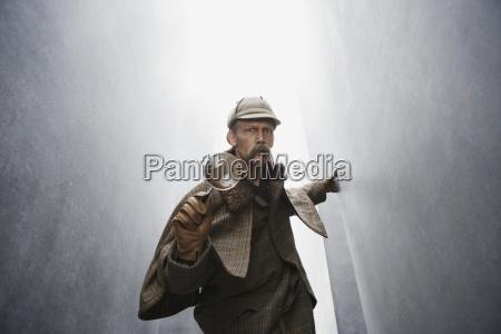 color masculino retrato guante horizontalmente serie
