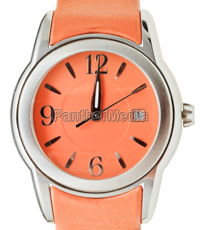 twelve oclock on dial of orange
