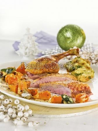 comida interior cocina aves de corral