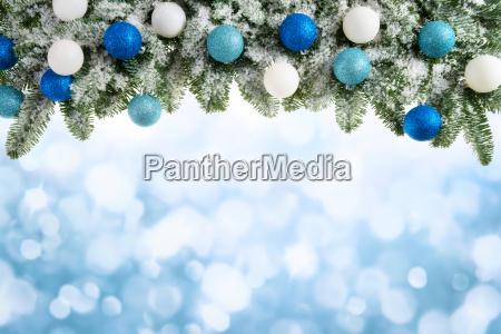 fondo de navidad con ramas de