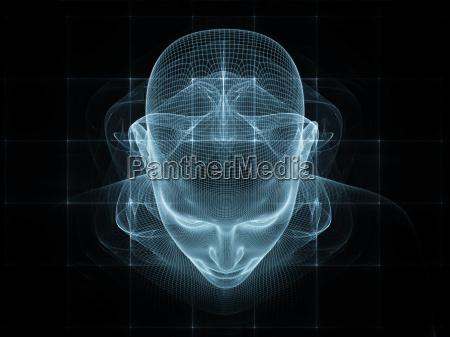 visualizacion composicion disenyo ciencia cara hombre