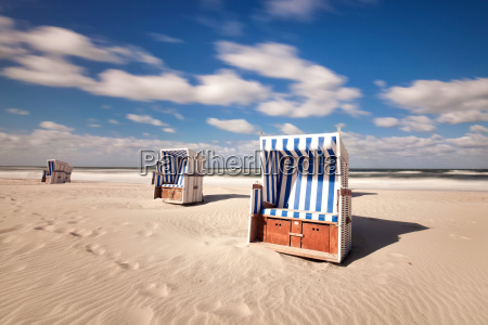 beach chairs in summer
