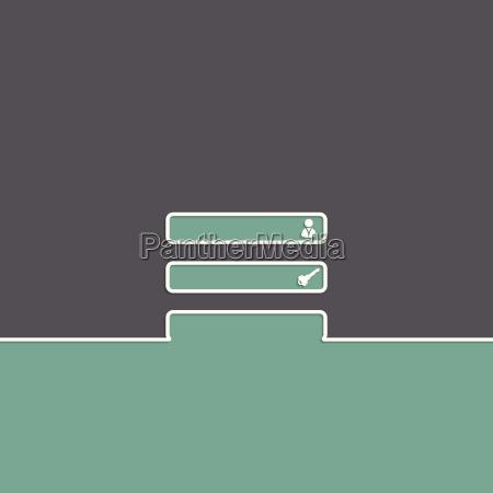 simple login background design