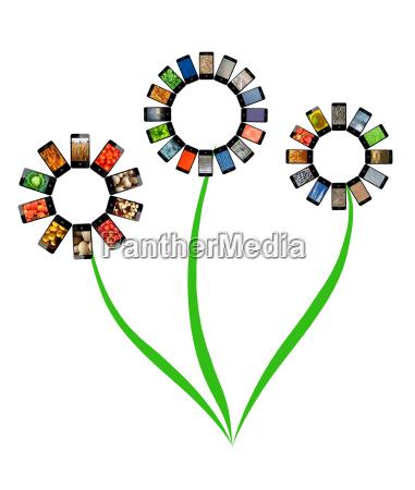 telefonos moviles con diferentes imagenes