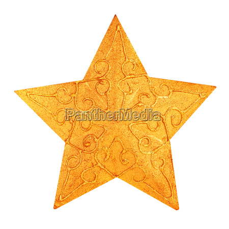 decoracion de estrella dorada de navidad