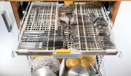 lavavajillas abierto