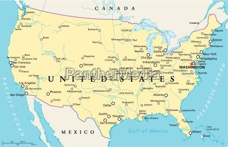 estados unidos de america mapa politico