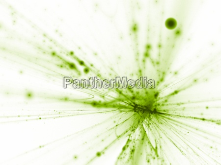 salpicaduras de color verde