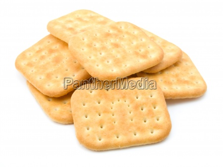 stack of crackers isolated on a