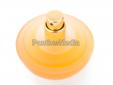 amarillo hermoso frasco de perfume