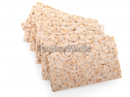 slices of crispbread isolated on white