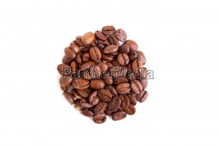 coffee beans in a circular shape