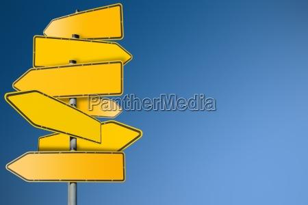 las senyales de trafico en blanco