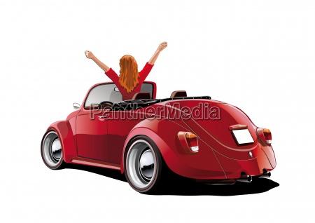 beetle cabriol woman