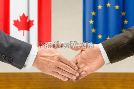 representantes canadienses y de la ue