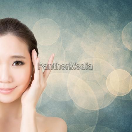 belleza de la cara de asia