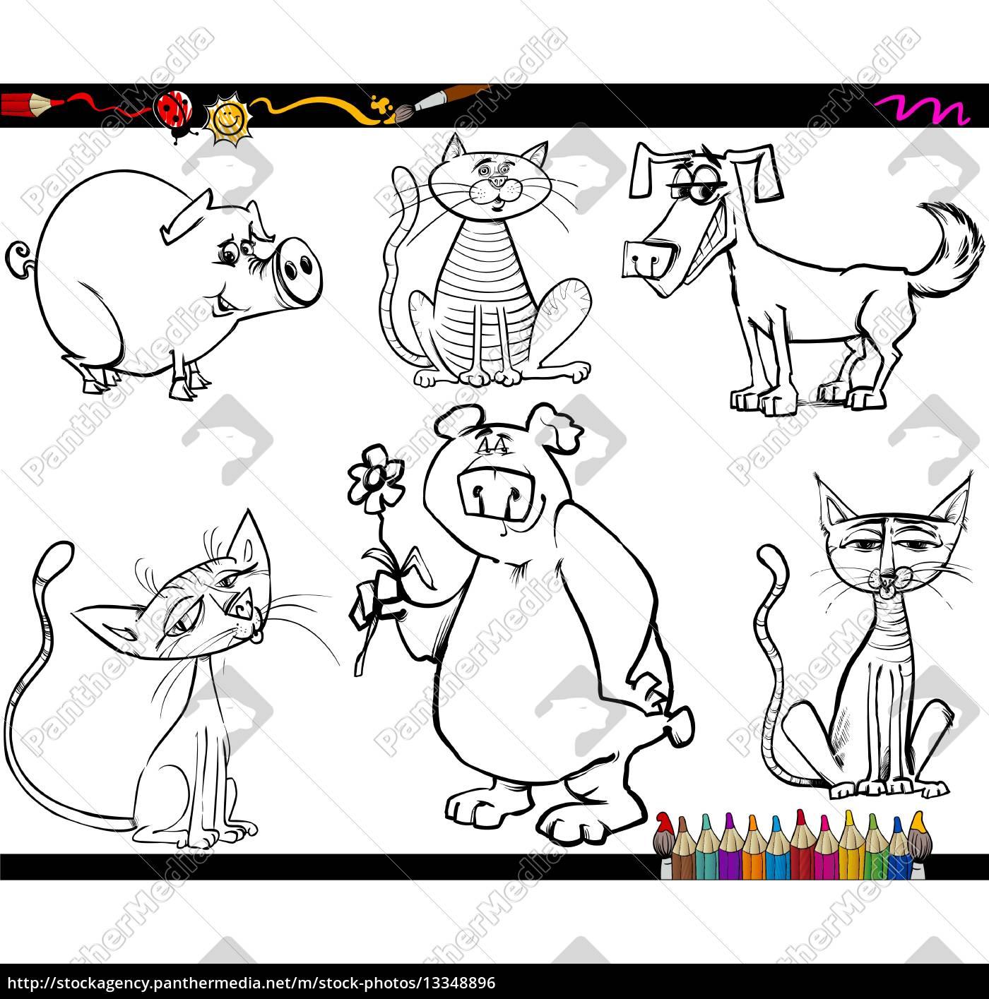 animales dibujos animados para colorear - Stockphoto - #13348896 ...
