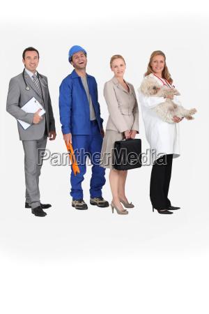 cuatro profesiones