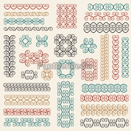 vector set graphic design elements and