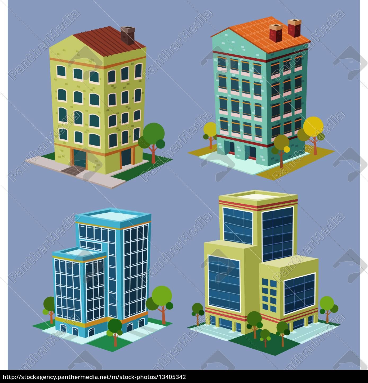 edificio, isométrico - 13405342