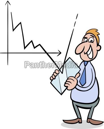 crisis economica ilustracion de dibujos animados
