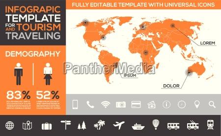 plantilla infografica para turismo viajes y