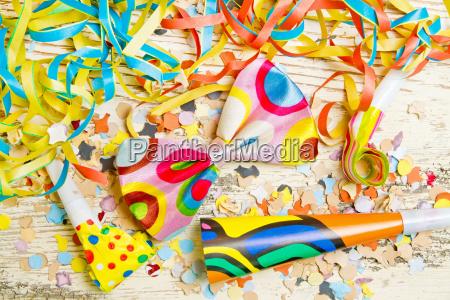 decoracion colorida del partido