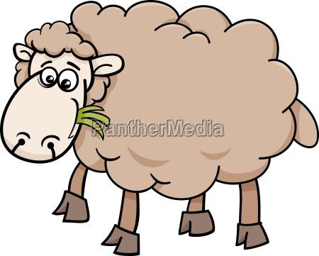 granja de ovejas de dibujos animados