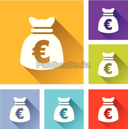 euro bag icons