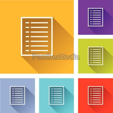 boton documento icono en casa plano