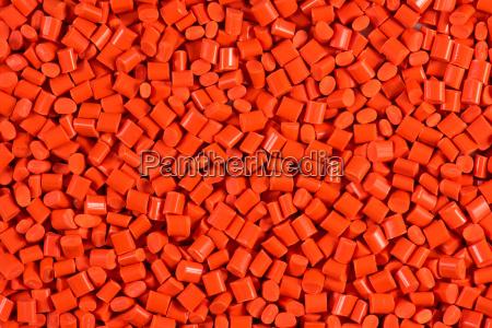 granulado plastico anaranjado