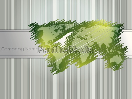 striped and scribbled green brochure design
