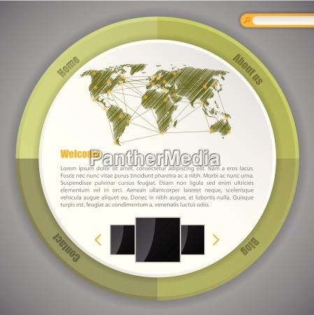 cool circle webpage template design