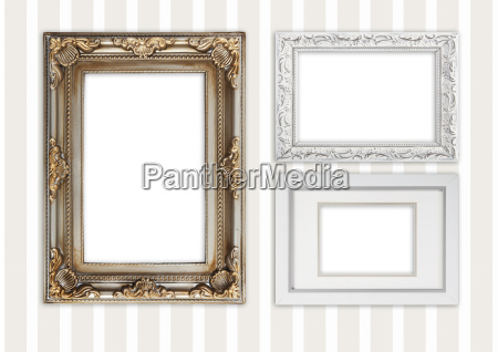 three different photo frames