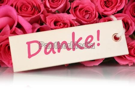 gracias con rosas flores para el