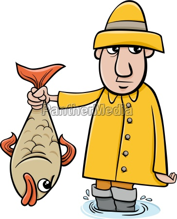 pescador con la historieta de los