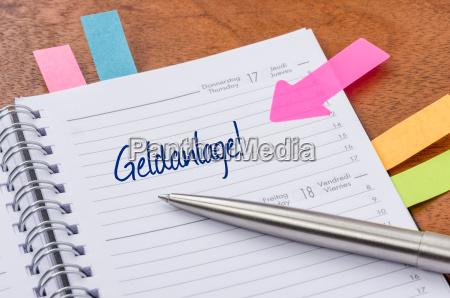 calendario con pegatinas de sugerencia inversion