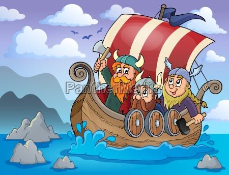 navegar barco navegacion velero nautico vikingo