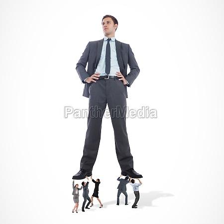 imagen compuesta del equipo de negocios