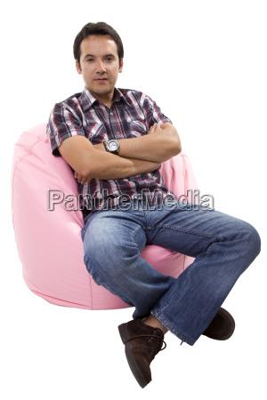 ocio liberado relajado aislado sofa longitud