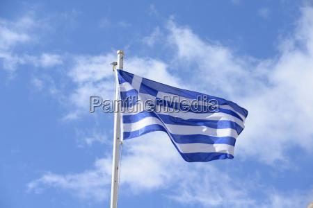 grecia griego bandera mastil nacion
