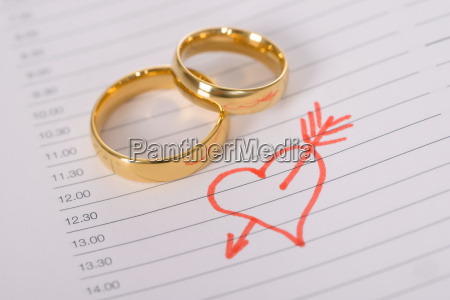 close up de anillos de boda
