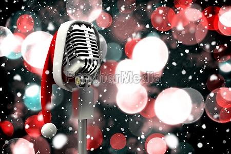 imagen compuesta del microfono con el