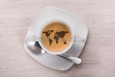 cafe de mapa del mundo