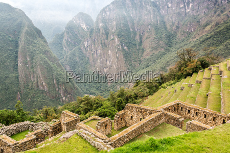 machu picchu terraces and andes