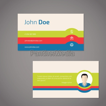two sided business card with photo