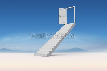 escalera medio ambiente horizonte desierto luz