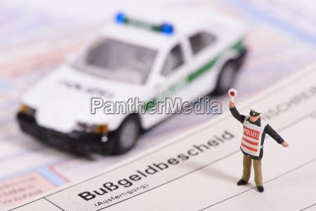 aviso de multa en el control