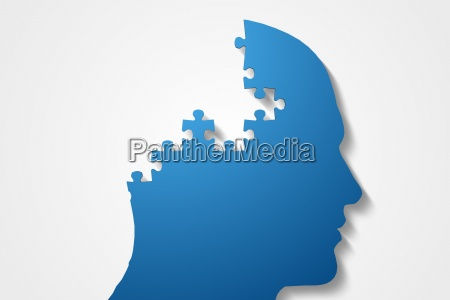 azul ilustracion digital rompecabezas parte solucion